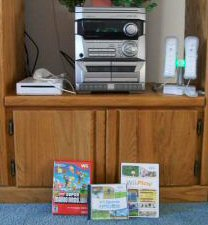 Nintendo Wii and collection of games